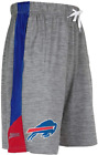 Zubaz NFL Football Men's Buffalo Bills Gray Space Dye W/Solid Stripe Shorts $24.99 USD on eBay