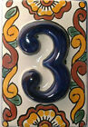 Mexican BLUE Tile House Numbers High Relief Tiles Mexico