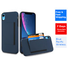 Apple iPhone XR [CARD HOLDER] Case Protective Cover and Clear Screen Protector
