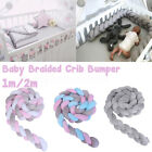 2m Cotton Soft Baby Bed Bumper Plush Knot Crib Protector Newborn Baby Cushion