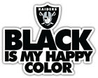 "Oakland Raiders Happy Color Nfl Sport Car Bumper Sticker Decal ""sizes''"