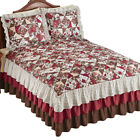 Lovely Floral Patchwork Ruffled Bedspread image