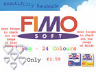 FIMO Soft 56g Polymer Clay 30 Colours 5cm x 5cm Modelling Jewellery Craft Art image