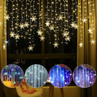 Christmas LED Curtain Snowflake String Fairy Lights Xmas Home Lamps Waterproof