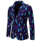US Stock Men One Button Christmas Tuxedo Suit Party Coat Xmas Blazer Jacket Top
