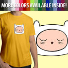 Adventure Time Sleeping Cute Finn Face Cartoon Unisex Mens women Tee T-Shirt