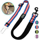 Dog Car Safety Seat Restraint Harness Belt Bungee Leads Clip Nylon Adjustable