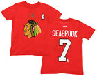 Reebok NHL Boys Youth Chicago Blackhawks Brent Seabrook #7 Player Tee, Red $12.99 USD on eBay