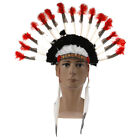 16 inch Indian Headdress feathers hoodies handmade Indian costume.UK