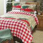 Tree Farm Holiday Comforter Set with Vintage Truck, Christmas Trees - Set of 3 image
