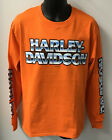 Harley Davidson Mens Name Shine Long Sleeve Shirt-Orange  R003278 $35.0 USD on eBay