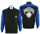 FISLL NBA Basketball Mens New York Knicks Colorblock 3/4 Zip Pullover Sweatshirt on eBay