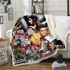 New Star Elvis Presley 3D Sherpa Blanket Sofa Couch Quilt Cover throw blanket