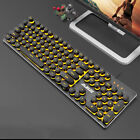 AJAZZ 104 keys Keycap USB Wired Metal Panel Backlight Gaming Mechanical Keyboard
