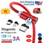 3in1 Magnetic Type C Micro USB Charger Charging Cable For Android Phones 90  3A
