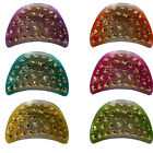 Claw Clips Hair Accessory Women or Girls Strong Jaw Clip Cute w/Gold Studs image