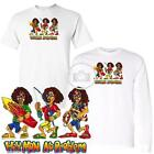 Reggae Guy Cartoon Hey Mon No Problem Short / Long Sleeve White T Shirt M-3X