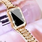 For Apple Watch Series 6/5/4/3/2/1/SE Bling Stainless Steel iWatch Band Strap
