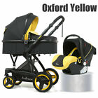 3 In 1 Baby Stroller Luxury Pushchair Foldable Buggy Infant Travel W/ Car Seat