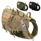 Military Tactical Pet Dog Harness+3 Pouches+2 Patches K9 Working Dog Molle Vest