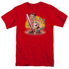 Betty Boop Surf T Shirt Mens Licensed Cartoon Merchandise Beach Hawaiian Red $23.49 CAD on eBay