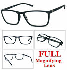 1 or 2 Pair Mens Fashion Rectangular Rubberized Frame Full Lens Reading Glasses