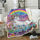 Unicorn Warm Blanket Throw Super Soft Sherpa Fleece Premium Sofa Home Bed New image