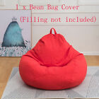 Large Bean Bag Chair Sofa Couch Cover Indoor Outdoor Lazy Lounger Cotton Cover