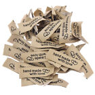 50/100Pcs Handmade With Love Cloth Labels For Garment Bag Sewing Tags Crafts USA