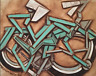 Modern Beach Crusier Bike Gift Art Bicycle Painting For Sale By Artist Tommervik