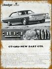 "1967 Dodge Dart GTS 383 Ad  Metal Sign 9"" x 12"" $14.75 USD on eBay"