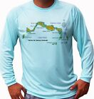 Внешний вид - Turks and Caicos Islands Map Fish Boat Long Sleeve UPF 30 T-Shirt UV Protection