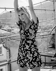 ZARA BLACK DITSY FLORAL CHIARA FERRAGNI DAISY PRINT DRESS PUFF SLEEVES Button Up