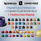 Coffee Pods 10 Capsules For Nespresso Original line Vertuoline Flavors Fast Ship