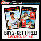 2020 TOPPS HERITAGE BUY 1 GET 1 FREE COMPLETE YOUR SET PICK YOUR CARDS #201-400 on Ebay