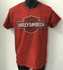 Harley Davidson Men's Shield Slash Short Sleeve T-Shirt Red R003332 image