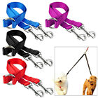 2 Way Nylon Dog Double Lead Coupler Leash No Tangle for Twin Two Dogs Walking