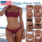 USA Brazilian Bikini Thong Swimsuit Beach Underwear Lady Women Swimwear Bathing