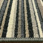 Stripe Carpet Anthracite Black Grey Hard Wearing £9.50 sqm 4m x Any Length