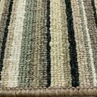 Stripe Carpet Green Hard Wearing Oxford Striped £9.50 sqm 4m x Any Length