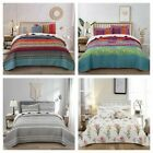 3Pieces Bedspread Coverlet Set Oversized Bed Cover Quilt Queen King Size US image