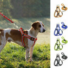 Step-in Dog Harness&Walking Lead Set No Pullig Reflective Nylon Pet Vest Leash