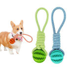 Pet Dog Puppy Cotton Rope Leakage Food Ball Molar Bite Resistant Chew Play Toy K