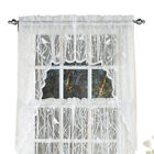 Lace Window Café Curtain Swags with Songbirds & Branches