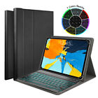 "US Backlit Bluetooth Keyboard Smart Case for iPad 7th/6th/5th Gen 9.7"" 10.2"""