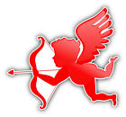 "Red Cupid Valentines Day Car Bumper Sticker Decal  ""sizes"""