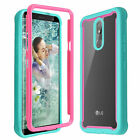 For LG K40/Xpression Plus 2/Solo Heavy Duty Shockproof Rugged Clear Case Cover