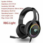 HAVIT Gaming Headset RGB PC USB 3.5mm Wired XBOX / PS4 Headsets with 50MM Driver