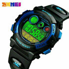 SKMEI Children Fashion Colorful Watches LED Sports Alarm Watch Kid Gift USA image