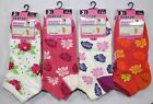 3 Pairs Ladies Womens Flower Floral Short Trainer Liner Sport Socks Lot Size 4-7